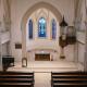 Innenaufnahme der evangelischen Kirche Linkenheim